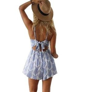 Other - Open Back Shorts Romper Size L